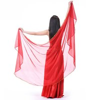 Wholesale red belly dancing scarves for sale - Group buy 2019 Hot Belly Dance Veil cm cm Silk like Chiffon Bollywood Dancing Scarf Shawl Colors