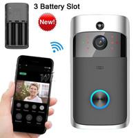 ingrosso pir video-Nuova videocamera di sicurezza wireless WiFi con campanello video 720P HD con rilevamento di movimento PIR per il controllo dell'app APP Android Phone