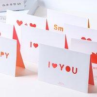 casal de cartões de casamento venda por atacado-Criativo Oco Cartão De Saudação Amor Aniversário Cartão Casal Confissão convites de casamento Acessórios