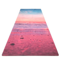 colchonetas de yoga al por mayor-Patrón de moda yoga fitness mat calidad salud antideslizante suede rubber mat Travel Sport Fitness yoga pilates mat 183 * 61cm * 3.5mm ZZA867