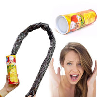 Wholesale potato chips toy for sale - Group buy Prank Props Potato Snake Potato Chip Funny Tricky Toys Can Jump Fake Snake April Fool Day Halloween Party Decoration
