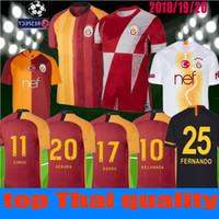 доставка нового трикотажа оптовых-FREE Ship 2019 2020 new Galatasaray футбол футболка дома Лига чемпионов 19 20 выезд 3-й CIGERCI BELHANDA FERNANDO FEGHOULI ФУТБОЛЬНЫЙ ОБОРУДОВАНИЕ SHIRT