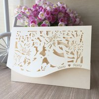 Wholesale marriage invitations cards resale online - 100Pcs Custom Name Wedding Invitation Card Exquisite Envelope Apply To Business Valentine s Day Marriage Engagements Carnival Party