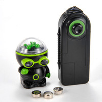 Wholesale tech toys resale online - High tech unique Remote control Infrared RC Robot Electronic Toys Mechanical UFO flash and music aliens Controller toy kids gift