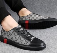 calçados casuais calçados venda por atacado-Qualidade superior de qualidade Casual plana sapatos de caminhada, sapatos de grife dos homens sapatos de lona de couro, mens oxford sapatos casuais h6