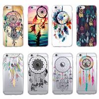 ingrosso copertina tribale iphone case-Per iPhone 7 7Plus 6 6S XS Max 8 8Plus X 5 5S Fashion Dream Catcher Boho Tribal Soft TPU Copertura della cassa del telefono Coque Fundas