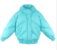 Wholesale duck candies resale online - 2018 Warm bread coats Popular INS net Candy colors Jazzevar women down jackets with hoody White duck down