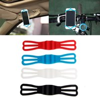 Wholesale cycling phone holder resale online - Cycling Bike Bicycle Silicone Elastic Strap Bandage Fixed Holder Fr Mobile Phone