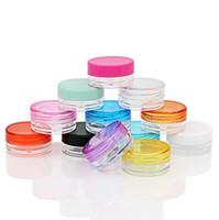 Wholesale pot case resale online - 3g g Colorful Cosmetic Empty Jar Pot Makeup Face Cream Container Bottle Nail Art Powder Storage Box case LX6663