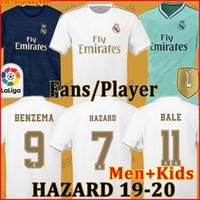 xxl erkekler için gömlekler toptan satış-HAYRANLAR OYUNCU SÜRÜMÜ Real Madrid futbol formaları soccer jersey 19 20 TEHLİKE JOVIC MILITAO camiseta de fútbol 2019 2020 VINICIUS futbol forması çocuk seti setleri