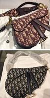 bolso de noche de diseñador sobre al por mayor-Classic Lux Designer CChristian SADDLE OBLIQUE bolso bolso de cadena Bolso de hombro sillín de lona Crossbody messenger Bolso Evening Envelope
