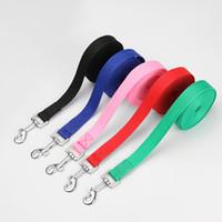 тренировочный ошейник для собак оптовых-1PC Flexible Dog Lead Leash Pet Supply Puppy Walking Training Traction Rope Cats Dogs Harness Collar Leash Strap Belt