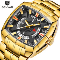 Wholesale watches strip for sale - Group buy New BENYAR Men s Watches Military Sport Watch Men Business Stainless Steel Strip M Waterproof Quartz Watches Relogio Masculino