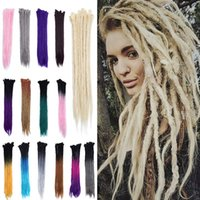 Wholesale ombre hair for braiding for sale - Group buy 20 quot Dreadlock Extension Ombre For Hip Hop Synthetic Heat Resistant Crochet Braiding Hair Handmade Reggae Twist Hairpiece For Man Women