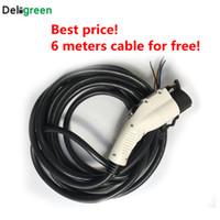 câble de mise à la terre achat en gros de-16A SAE J1772 Fiches électriques avec câble 6M Câble UL / TUV Connecteur EV 85-220V Prise de terre standard