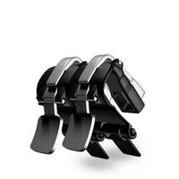 regra de metal venda por atacado-S4 Disparador Móvel Tiro Botões de Metal Jogo Móvel Joystick Físico Toque Imprensa Controlador L1R1 Para PUBG Regras de Sobrevivência 150