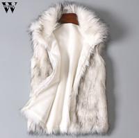 colete de lã de pele venda por atacado-Colete De Lã das mulheres Colorido Casual Faux Fur Coat Senhoras Faux Fur Vest Estande Gola Casaco Jaqueta