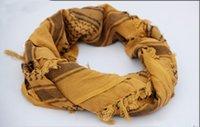 ingrosso sciarpe tattiche militari shemagh-100% cotone spesso musulmana Hijab Shemagh tattico deserto arabo sciarpa araba Sciarpe di inverno degli uomini militare antivento Sciarpa