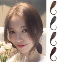 Wholesale air wigs for sale - Group buy Women Natural Air Dragon Bangs Fringes Both Sides Hair Extension Hairpiece Wig