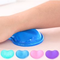 Wholesale silicone for computer resale online - Translucent Gel Silicone Wavy Mouse Pad Wrist Rest Support For Computer Laptop New Drop shipping PC Friend