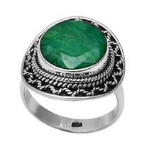 изумруд кольцо 925 серебряный размер оптовых-Niaozaifei YunZaiKan подлинное Изумрудное кольцо стерлингового серебра 925 пробы, США размер: 6.5, 2SR0185