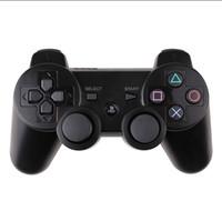controladores de playstation venda por atacado-Controladores pS.3 sem fio bluetooth controlador game pad dupla choque playstation ps3 gamepad 11 cores com caixa de varejo livre dhl