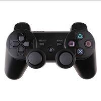 mejor controlador android al por mayor-Controladores P.S.3 Controlador inalámbrico Bluetooth Controlador de juegos Juego doble Playstation PlayShock PS3 11 colores con una caja de venta al por menor sin DHL