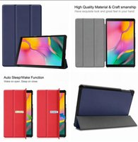 samsung için tablet kapakları toptan satış-Samsung Galaxy Tab için Bir 10.1 2019 T510 T515 Tab Bir 8.0 P200 P205 S5e T720 T725 Tablet Manyetik Cüzdan Deri Kılıf Lüks Standı Kapak 1 adet