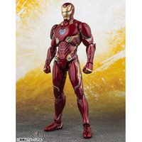 Wholesale toys for sale - The Avengers Action Figure Iron Man Doll SHF Mk50 A Collectible Model Infinity War Birthdays Gifts hj F1
