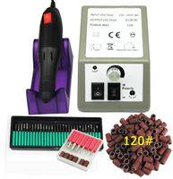Wholesale manicure sanding bands resale online - Electric Nail Drill Manicure Machine Set Cutter Apparatus For Manicure Drill Bits Sanding Bands For Gel Nail Polish Remove Files