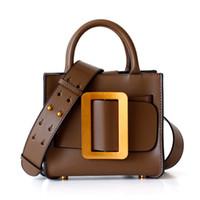 çanta süslemek toptan satış-Tasarımcı Kemer Meydanı D Toka Dekorasyon Gerçek Deri Çanta Omuz çantası