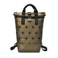 sacolas para laptop sequin venda por atacado-Senhoras saco holográfico escola mulheres mochila laptop lantejoulas de laser de diamante geométrica feminino mochila de viagem mochila feminina # 313973