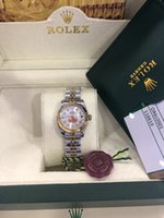 Wholesale ladies diamond automatic watch resale online - Christmas gift swiss Automatic watches Original box certificate Lady Size mm Date kt Gold President CHAMPAGNE Diamond Women Watch