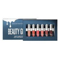Wholesale professional lipsticks resale online - Beauty Glazed Set Liquid Lipstick Professional Makeup Matte Lipstick Christmas winter Edition Lip Kit Long Lasting Maquiagem