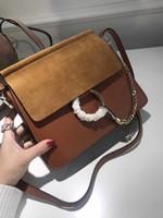 Wholesale hasp ring for sale - Group buy Classic Famous Lady Suede Chain Handbag Circle Ring Shoulder Bags Women Flap Chain Crossbody Bag Designer Handbags Messenger Purse