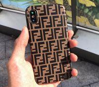 ingrosso copertura posteriore in oro s5-Custodia per cellulare di design con lettere di marca per iPhoneX Xs XSmax XR iPhone7 / 8plus iPhone7 / 8 iPhone6 / 6s Custodia protettiva di lusso per iPhone6 / 6sP