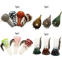 Wholesale 18mm male bowl piece for sale - Group buy 14mm mm Heady Glass Slides Bowl Pieces Bongs Bowl Different Design Male Female Smoking Water Pipes Ash Catcher Bubbler Dab Rigs Bong