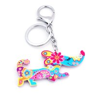 Wholesale lady gray handbags resale online - Acrylic Swan dachshund dog cat scorpion Key Chains Cute Keychain Rings Animal Jewelry For Women Girl Ladies Handbag Car Charms