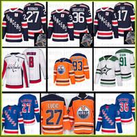 camisetas de zuccarello venda por atacado-New York Rangers Edmonton Oilers Jersey 27 Ryan McDonagh 36 Mats Zuccarello 93 Ryan Nugent-Hopkins 27 Milan Lucic 30 Henrik Lundqvist