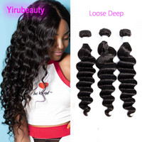 Peruvian Virgin Hair Extensions Loose Deep Natural Color Wholesale 100% Human Hair Products 3 Bundles 95-105g piece Loose Deep