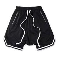 lavado suave al por mayor-Verano Fear Of God Shorts entrepierna de Boston Hombres Mujeres lavados Shorts FOG Soft Pure Mens Sporting FOG Casual