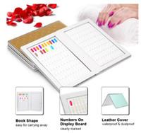 dicas de gel de cor falsa venda por atacado-160 prego Color Display Livro Com 240pcs das unhas falsas dicas para DIY polonês Gel UV Cor Cartão Board Ferramentas Nail Salon