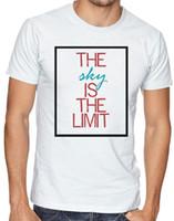 Wholesale posters women resale online - Sky Is The Limit Quotes Music Poster Inspiration Men Women Unisex T shirt Funny Unisex Casual top
