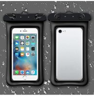 Wholesale cell phone neck cases resale online - Waterproof Cellphone Dry Floating Bag Pouch Clear PVC Touch Case with Neck Strap for iPhone Plus Up to inch Other Phone
