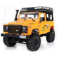 motor rc de borracha venda por atacado-2019 New Arrivals MN-90 1/12 2.4G 4WD 15 KM / h RC Car 2 Corpo Shell Frente CONDUZIU a Luz Rock Crawler Truck RTR Brinquedo Crianças Meninos Presente
