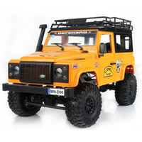 nuevos coches rc llegada al por mayor-2019 Nuevas llegadas MN-90 1/12 2.4G 4WD 15KM / h RC Car 2 Body Shell Frente LED Light Rock Crawler Truck RTR Toy Niños Niños Regalo