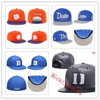 blaues orange hysteresen großhandel-NCAA Duke Blue Devils Snapback Caps Schwarz Orange Clemson Tigers Snapback Caps