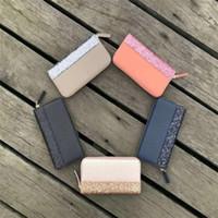 vendendo glitter venda por atacado-Venda quente marca designer glitter carteiras brilhando novo zíper cluth bag 5 cores brilhando para as mulheres