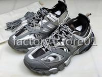 Wholesale m s mens shoes for sale - Group buy Cheap Sale Track Paris Triple S Grey Orange Yellow Casual Shoes Platform Sneakers Tess S Gomma Trek Mens Trainers Size