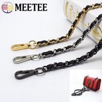 Wholesale belt bag parts accessories for sale - Group buy Meetee Handbag PU Leather One Shoulder Strap Bag Metal Chain Crossbody Bag Belt Luggage Parts Accessories